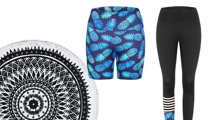Ausgefallene Styles: Shorty Pineapple, Leggings Pineapple & Stripes sowie Yoga Roundie von Hey Honey