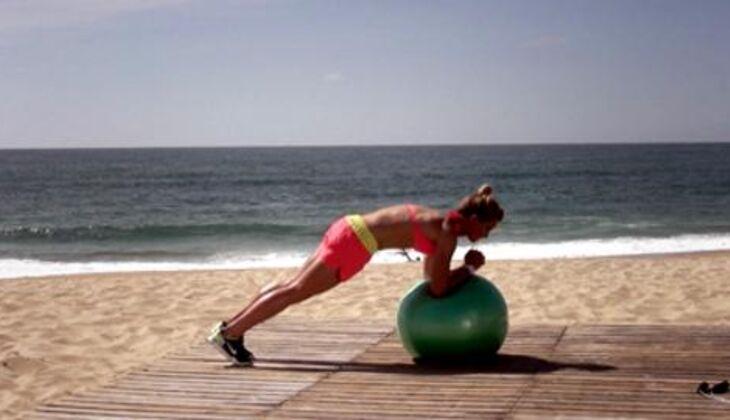 Bikini-Workout: Unterarmstütz