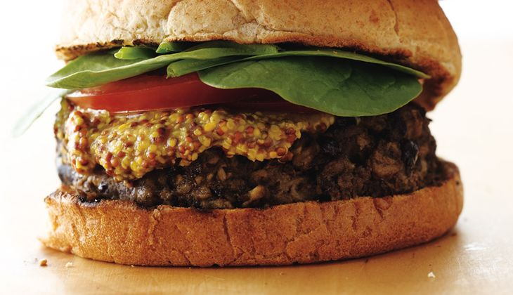 Bohnen-Haferflocken-Burger
