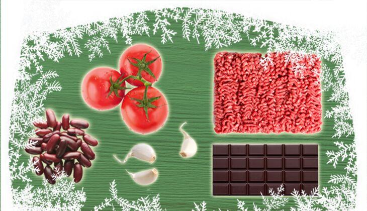 Chili-con-Carne mit Schokolade
