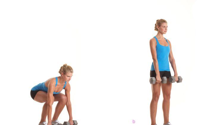 Das Po-Workout: Kreuzheben mit Kurzhantel