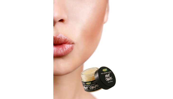 Für volle Lippen: Lush Mint Julips Lippenpeeling