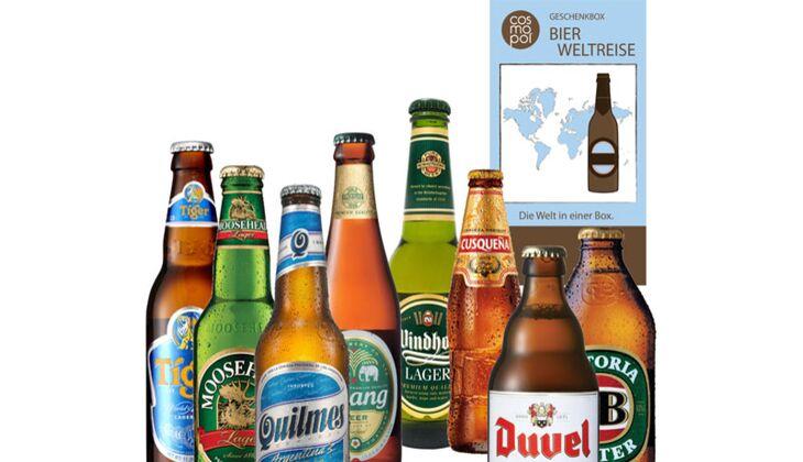 """Geschenketipps für Männer: Bier-Set """"Weltreise"""""""