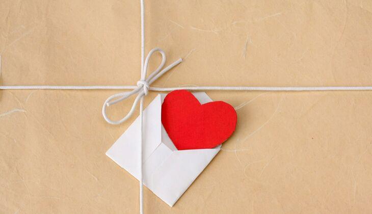 Geschenketipps für Männer: Liebesbrief
