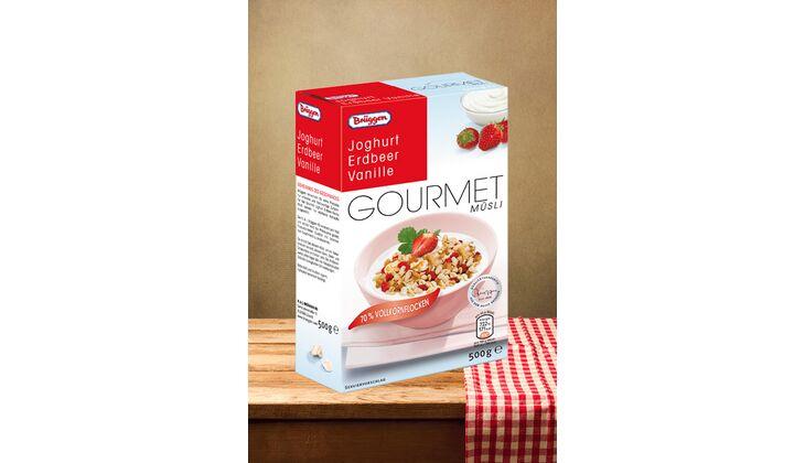 """Gourmet-Müsli """"Joghurt Erdbeer Vanille"""" von Brüggen"""