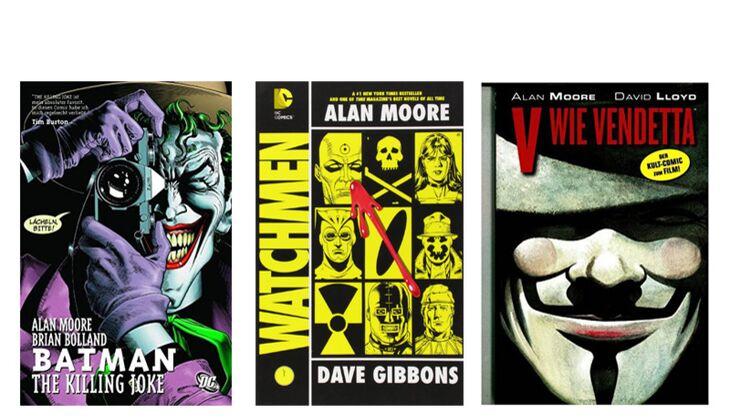 Graphic Novels Comics von Alan Moore als Geschenk