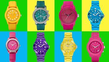 Jetzt knallt's: Bunte Uhren für Frauen