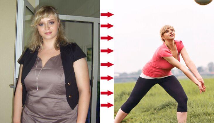 Julia wog 98 Kilo, nach dem Abnehmen nur noch 69 Kilo