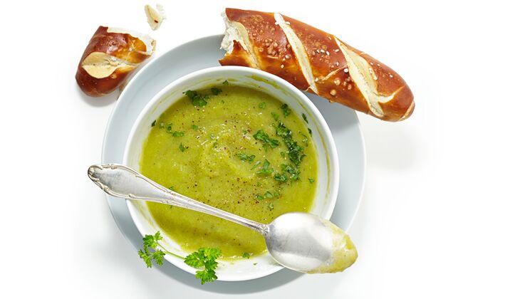 Kalorienarme Lauch-Suppe