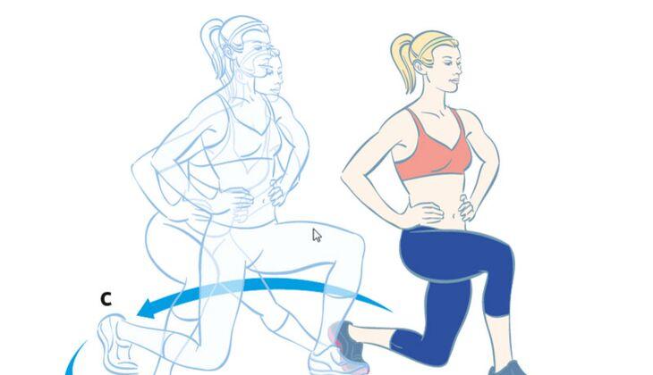 Kardiotraining: Ausfallschritte in alle Richtungen