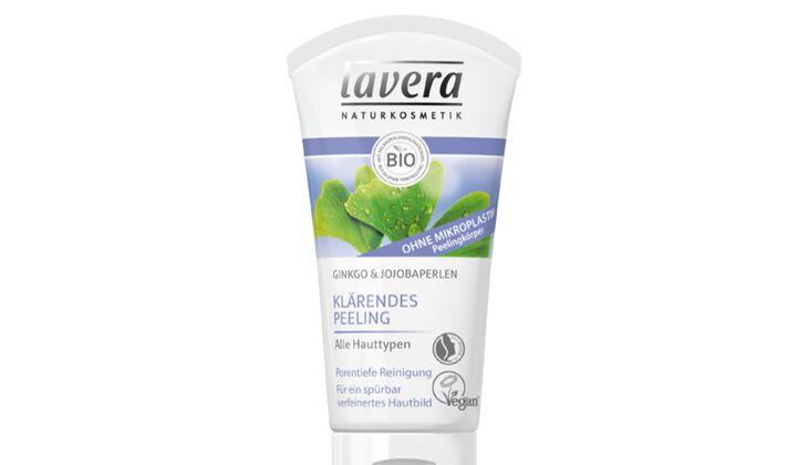 Klärendes Peeling von Lavera, 50 ml um 5 Euro