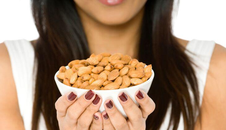 Mandeln haben weniger Kalorien