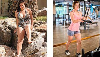 Maren hat 22 Kilo abgenommen: vorher wog sie 79 Kilo und nachher 57 Kilo