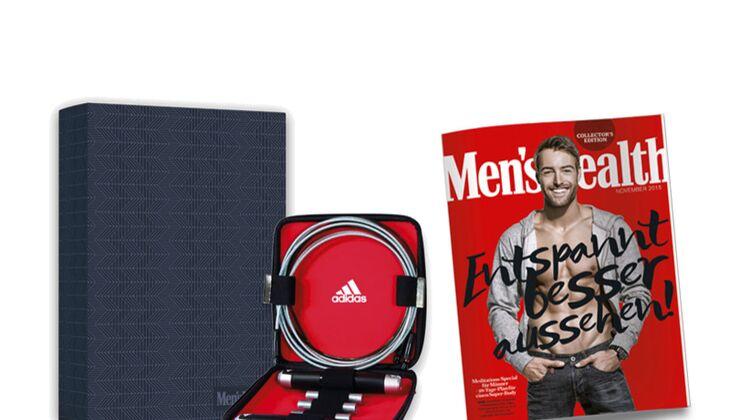 Men's Health als Jahresabo in einer Box mit Geschenk