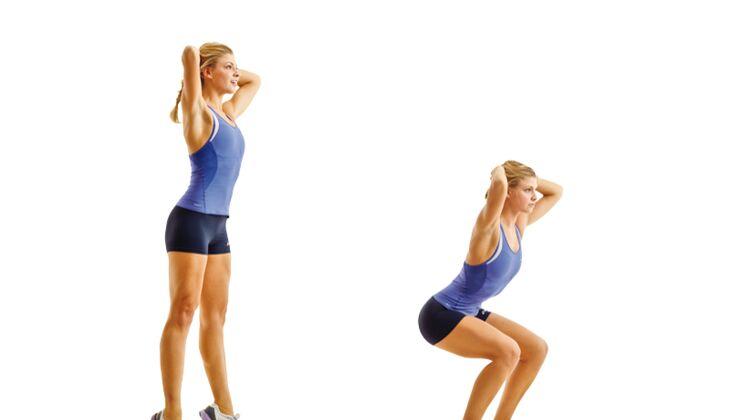 Muskelaufbau: Strecksprung