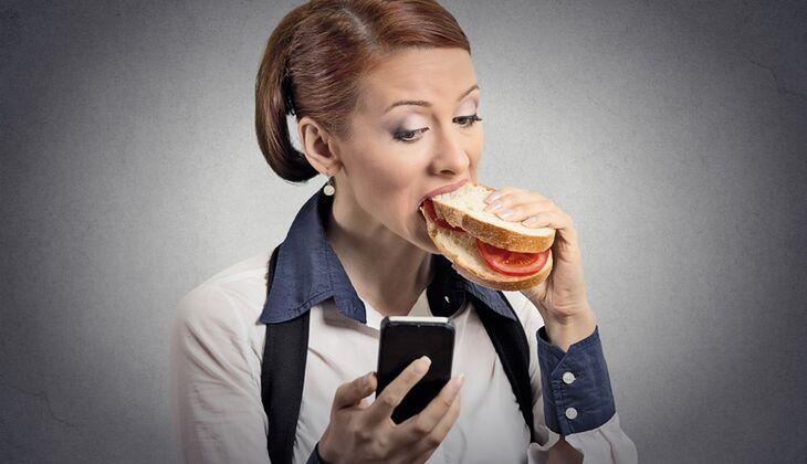 Nehmen Sie sich Zeit fürs Essen, auch wenn der Job gerade stresst