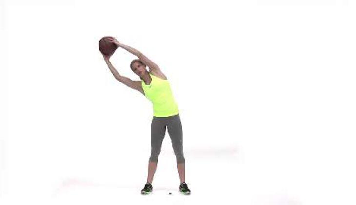 Olympia-Workout: Rumpfbeuge mit Medizinball
