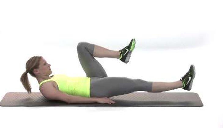 Olympia-Workout: Wechselndes Beinstrecken