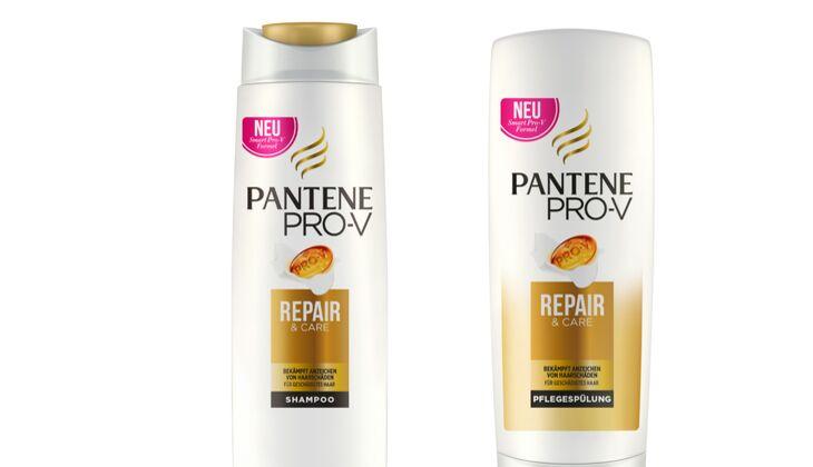 Repair Shampoo und Spülung von Pantene Pro-V für strapaziertes Haar