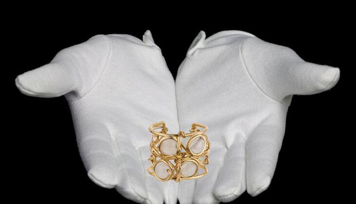 Rosenquartz-Ring von Private Suite, zirka 59 Euro