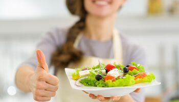 Salat ist lecker und gesund