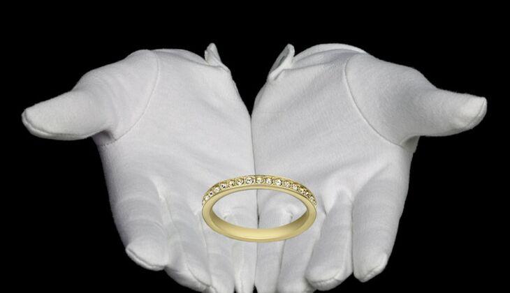 Schmaler Ring von Swarovski, zirka 54 Euro