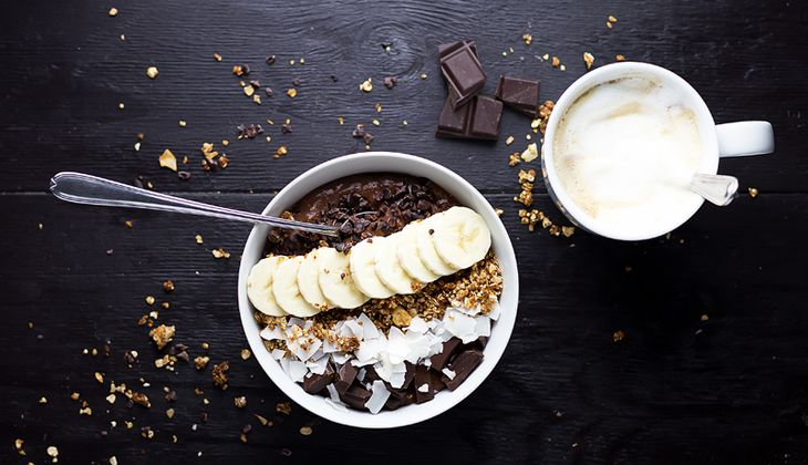 Schokoladen-Bananen-Overnight-Oatmeal