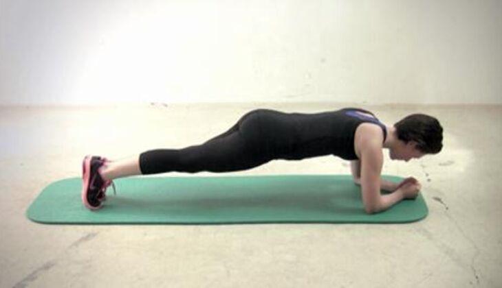 Sexy-Bauch-Workout: Dynamischer Unterarmstütz
