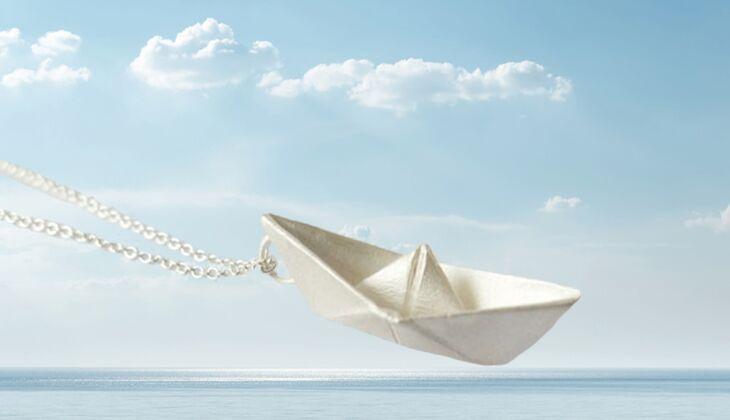 Silberschiffchen von Kaja Holland