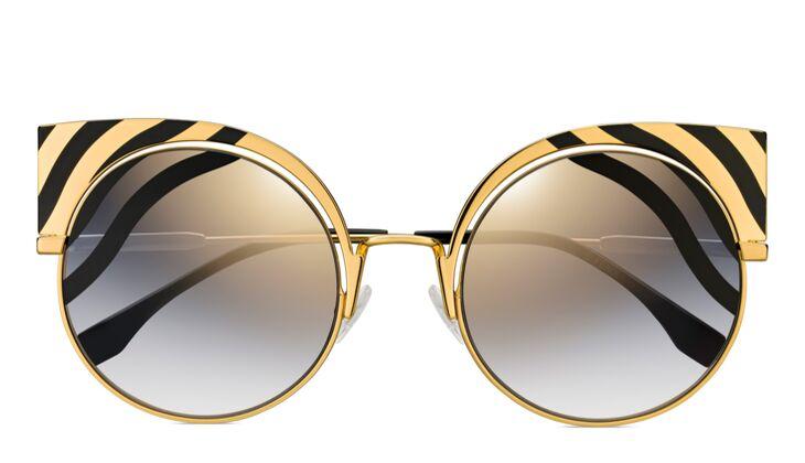 Sonnenbrille gold von Fendi