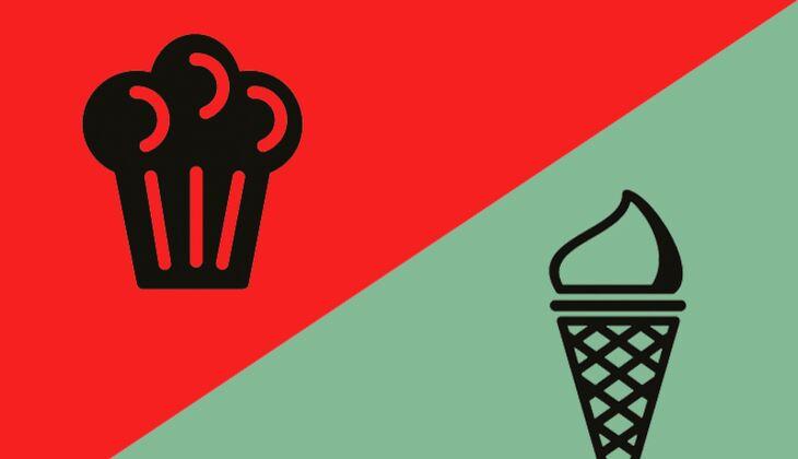 Sonntag, 17 Uhr: Kuchen oder Eis?