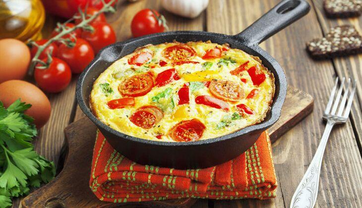 Tomaten-Mozzarella-Omelette