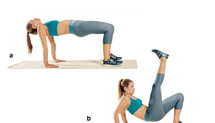 Trainingsplan flacher Bauch: Dips mit Kick
