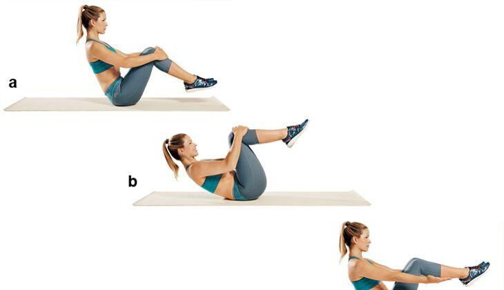 Trainingsplan flacher Bauch: Roll-ups