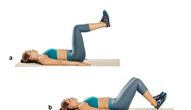 Trainingsplan flacher Bauch: Umgekehrte Crunches