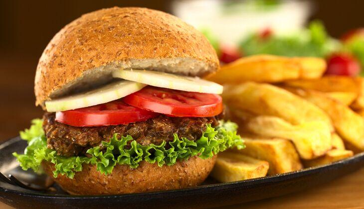 Veggie-Burger aus Kidneybohnen