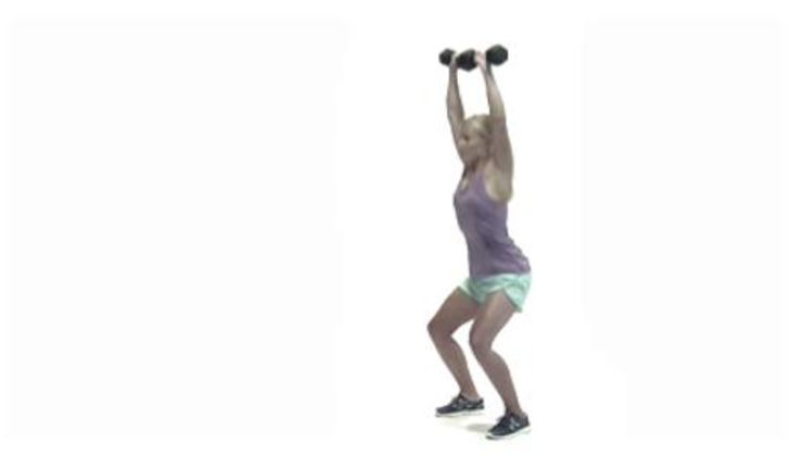Wintersport-Workout: Tiefe Kniebeuge