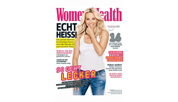 Women's Health Cover 2015: Reese Witherspoon