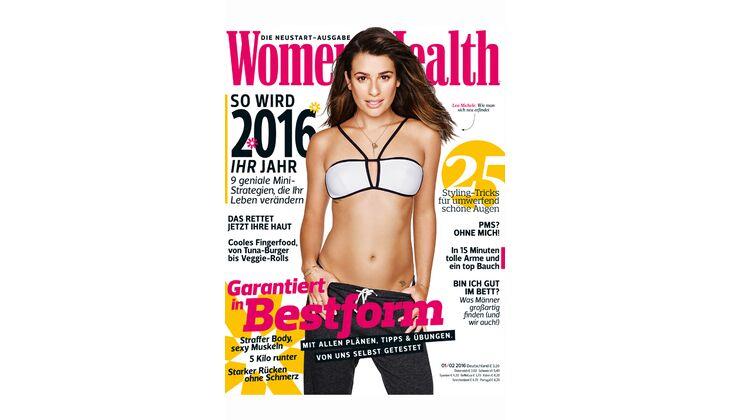 Women's Health Cover 2016: Lea Michele Sarfati