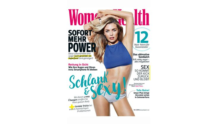Women's Health Cover April 2016: Abby Clancy