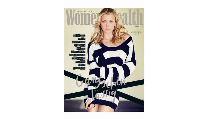 Women's Health Cover März 2016: Natalie Dormer