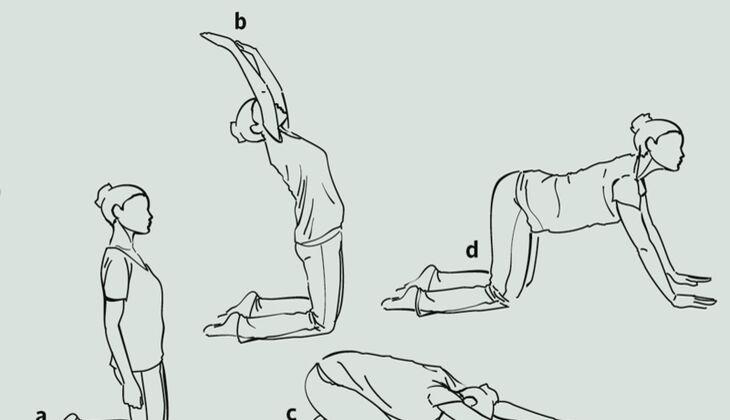 Yoga-Übungsreihe gegen Rückenschmerzen