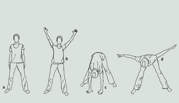 Yoga-Übungsreihe gegen Stress