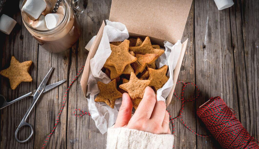 Kalorienarme Kekse für die Weihnachtszeit