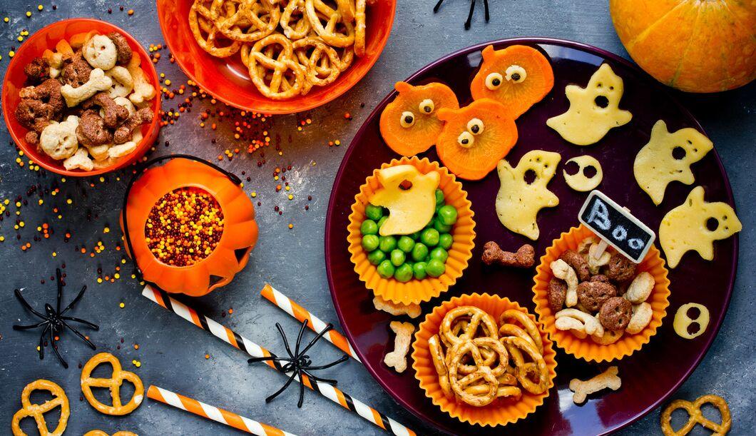 Snacks für die Halloween-Party
