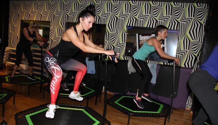 trampolin workout jumping fitness. Black Bedroom Furniture Sets. Home Design Ideas